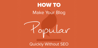 How To Make Your Blog Popular Quickly Without SEO