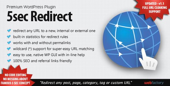 5sec Redirect Best Paid Redirection WordPress Plugin
