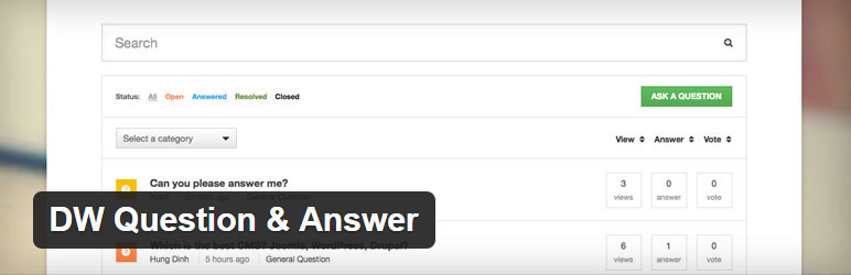 DQ Question & Answer Best Free Question & Answer WordPress Plugin