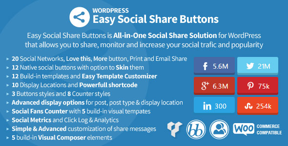 Easy Social Share Buttons for WordPress Best Paid Social Counts WordPress Plugin