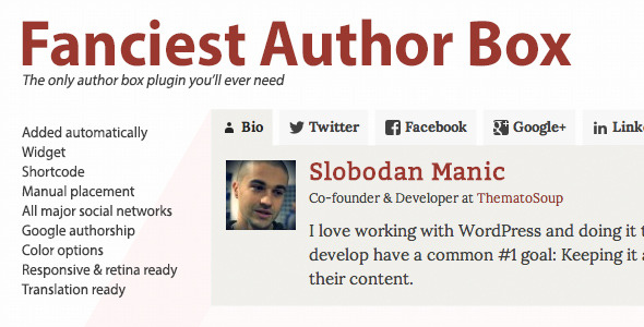 Fanciest Author Box Best Premium Author Biography WordPress Plugin