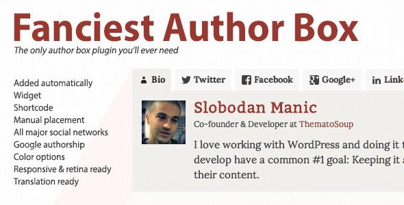 Fanciest Author Box Best Premium Author Biography WordPress Plugin