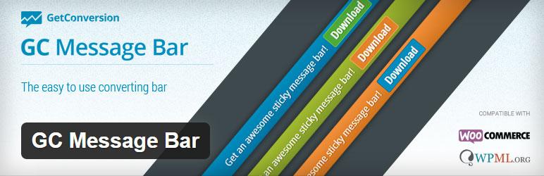GC Message Bar Best Free Notification Bar WordPress Plugin