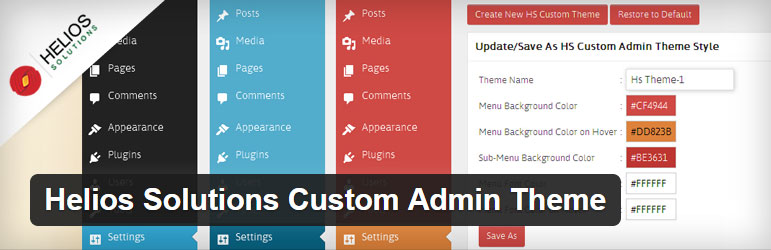 Helios Solutions Custom Admin Theme Best Free Custom Admin Theme WordPress Plugin