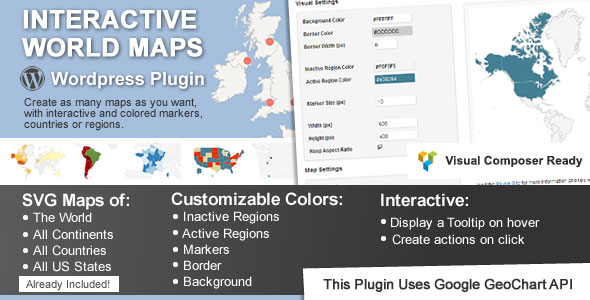Interactive World Maps Best Premium Google Maps WordPress Plugin