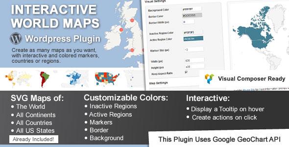 Interactive World Maps Best Paid Google Maps WordPress Plugin
