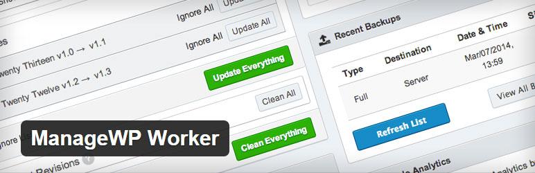 ManageWP Worker Best Premium WordPress Management WordPress Plugin