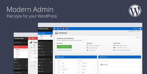 Modern Admin Best Premium Custom Admin Theme WordPress Plugin