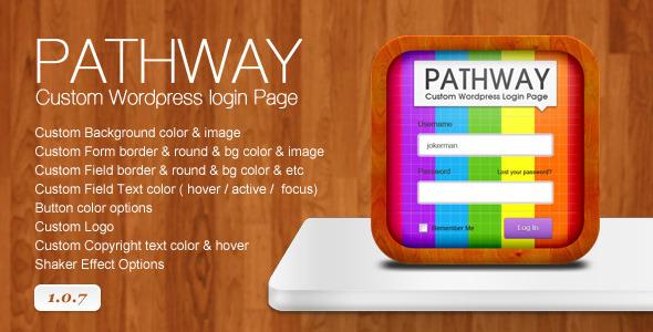 Pathway - Custom WordPress Login Page Best Paid Custom Login WordPress Plugin