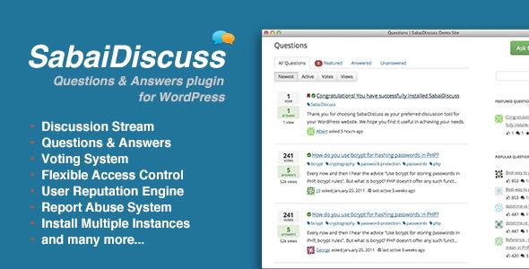 SabaiDiscuss for WordPress Best Premium Question & Answer WordPress Plugin