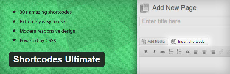 Shortcodes Ultimate Best Free Ready-to-use Shortcodes WordPress Plugin