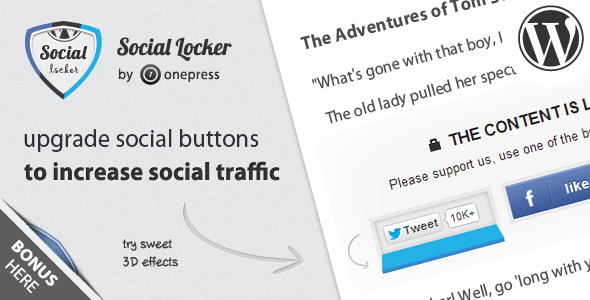 Social Locker for WordPress Best Premium Social Locking WordPress Plugin