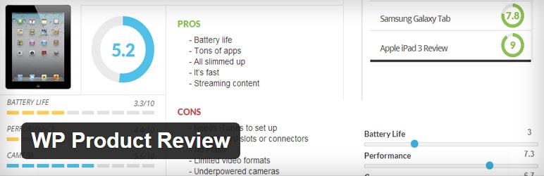WP Product Review Best Free Reviews WordPress Plugin