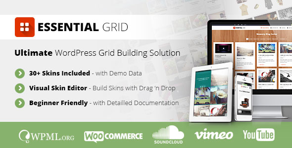 Essential Grid Best Premium Portfolio / Grid WordPress Plugin