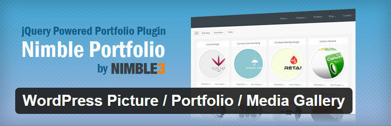 Nimble Portfolio Best Free Portfolio / Grid WordPress Plugin