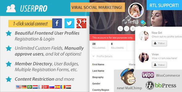 UserPro Best Paid Social Login / Registration WordPress Plugin