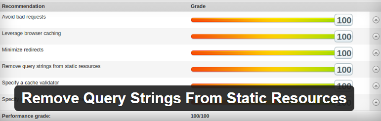 Remove Query Strings From Static Resources WordPress Plugin