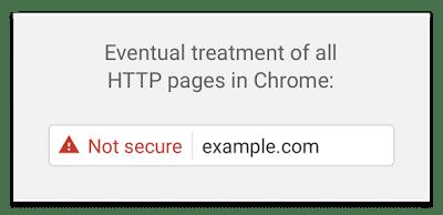Chrome HTTP Future Not Secure Warning Alert
