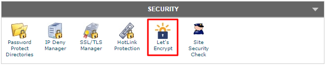 Let's Encrypt cPanel Icon