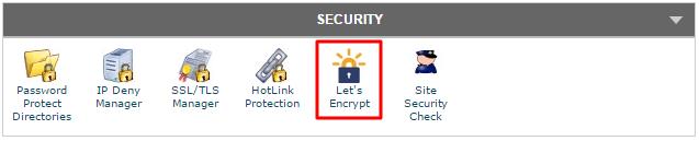 Let's Encrypt cPanel Icon