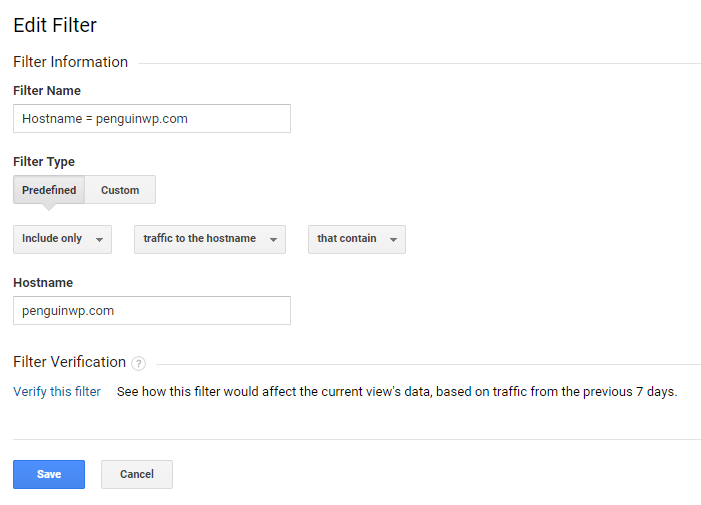 Filter out non-valid hostnames in Google Analytics